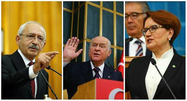 CHP, MHP ve İYİ Parti genel başkanları Erbaş'a tepki gösterirken, istifa çağrısında bulunmuştu.