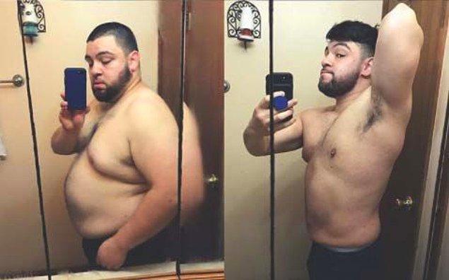 """6. """"Bu kadar kiloyu bir anda vermedim. 14 haftada 49 kilo verdim."""""""