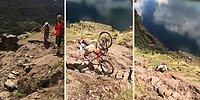 İnmeye Çalıştığı Tepede Taklaya Gelince Bisikletine Veda Eden Adam