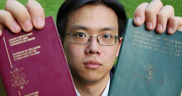 8. Anne baba vatandaşlıklarından faydalanamayan yarı Belçikalı yarı Çin'li genç adam.