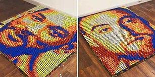 700 Rubik Küpüyle Ünlü Simaların Portrelerini Yapan Adam: Giovanni Contardi