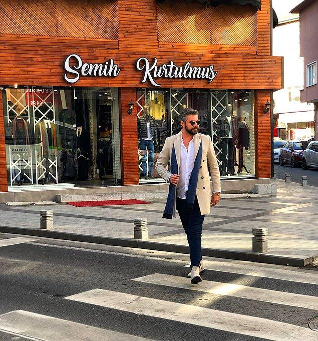 Kısmetse Olur sonrası Çorlu'da bir hayat kuran Semih Kurtulmuş, kendi adını taşıyan bir giyim mağazası açtı.