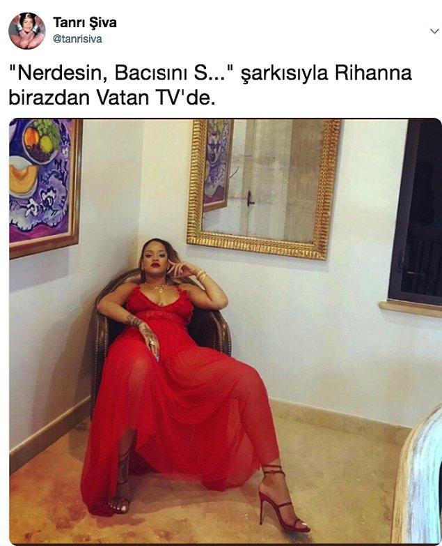 12. Aldığı kilolar sonrası Şanzel Çatlak gibi poz vererek herkesi dumur eden Rihanna