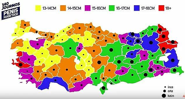 24. Seks işçiliği yapmış olan trans kadının kendi tecrübeleri doğrultusunda oluşturduğu Türkiye penis haritası