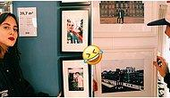 IKEA'da Satılan Çerçevelerdeki Sıkıcı Fotoğrafları Kendi Fotoğrafları ile Değiştiren Çift