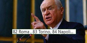Roma'nın Şampiyonlar Ligi Maçına Davet Edilen Devlet Bahçeli'yi Mizahına Alet Eden 14 Goygoycu