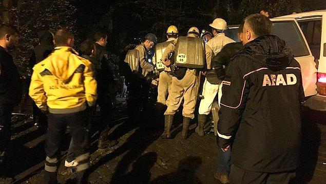 Özel maden ocağında saat 03.00 sıralarında patlama meydana geldi.