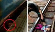 Düştüğü Tren Raylarından Mucize Eseri Kurtulan Bebek
