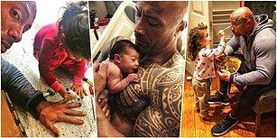 Ürkütücü Görüntüsüne Aldanmayın! Yıldız Oyuncu Dwayne Johnson'ın Muhteşem Bir Baba Olduğunun Kanıtı 19 Instagram Paylaşımı