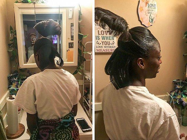 """8. """"Büyükannemin favori aktivitesi kuzenimin saçlarını saçma sapan şekillere sokmak..."""""""
