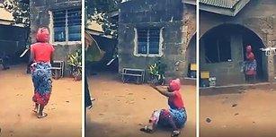 Hayatında İlk Defa Drone Gören Afrikalı Kadının Korku Dolu Anları