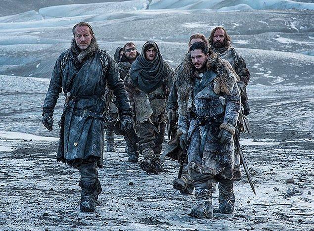 22. 7. sezondaki kadro İzlanda'da çekim yaparken, sıcaklık -28 dereceyi görmüş.