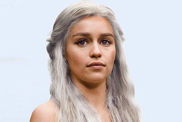 34. Kitaplarda Daenerys ve Targaryen soyundan gelen herkesin göz rengi mor.