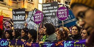 Taksim'de '25 Kasım Kadına Yönelik Şiddetle Mücadele Günü' Yürüyüşüne Polis Müdahale Etti