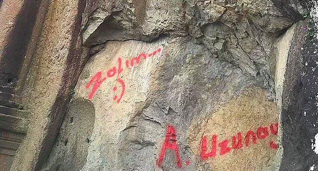 """MS 41-54 yıllarında Roma İmparatoru Tiberius Germanious Claudius döneminde yaptırılan ve Anadolu'da benzeri bulunmayan anıta """"Zalım"""" yazan kişi..."""