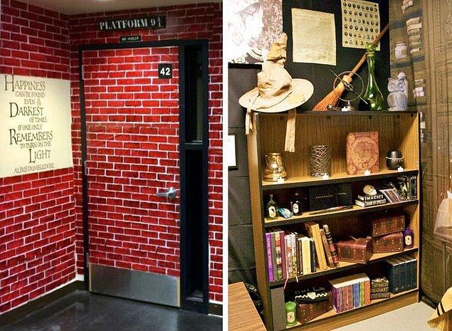 5. Bu öğretmen ise Harry Potter temalı bu sınıfı hazırlamak için 70 saatini harcamış.