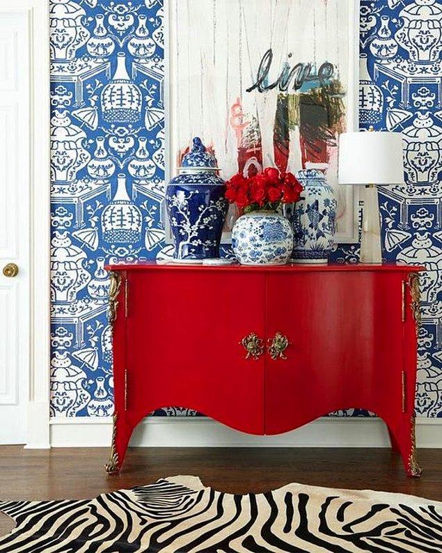 3. Ev dekorasyonunuzda kırmızı kullanmanız, evinizin havasını tamamen değiştirecektir.