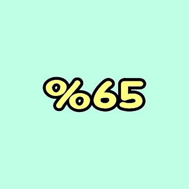 %65 Kıskanılıyorsun!