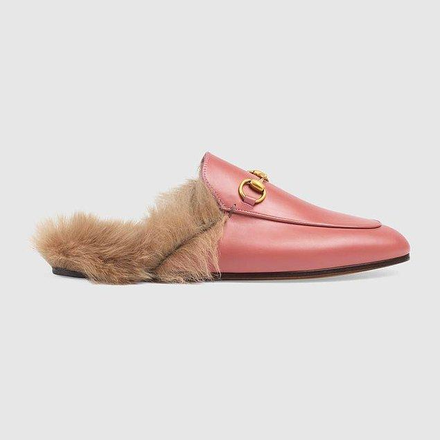 Gucci Princetown Fur Lined Loafer 750 euro yani, 4.500 TL.