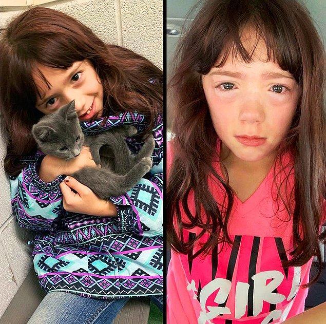 """1. """"Sonunda kızımın bir kedi almasına izin verdim. Kedilere alerjisi olduğu ortaya çıktı!"""""""