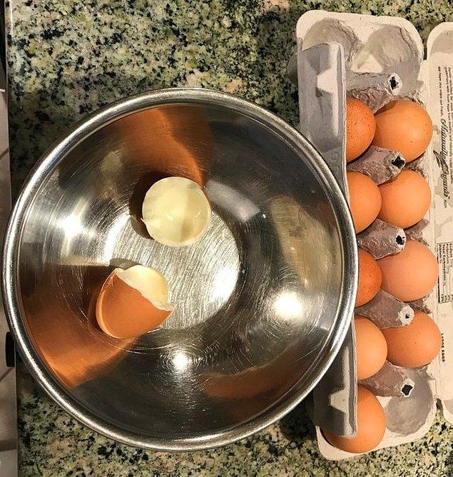 5. Omlet yaparken en beklemediğiniz şey;