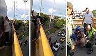 Köprüden Atlayarak İntihar Etmek Üzere Olan Kişiyi Kurtaran Mükemmel İnsan!