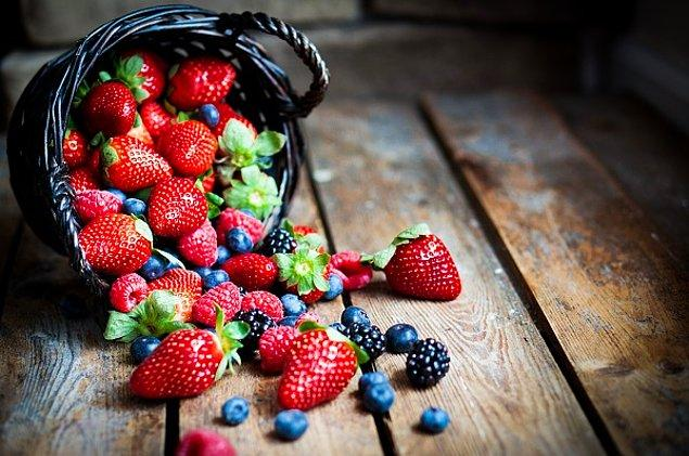 13. Kırmızı meyveler daha iştah açıcı duruyor!