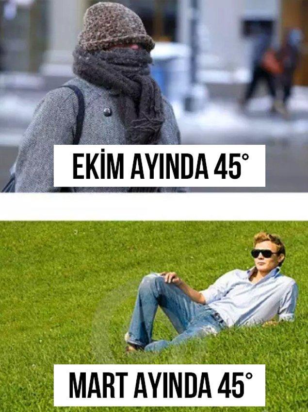 14. İlkbahar ve sonbahar arasındaki büyük fark.