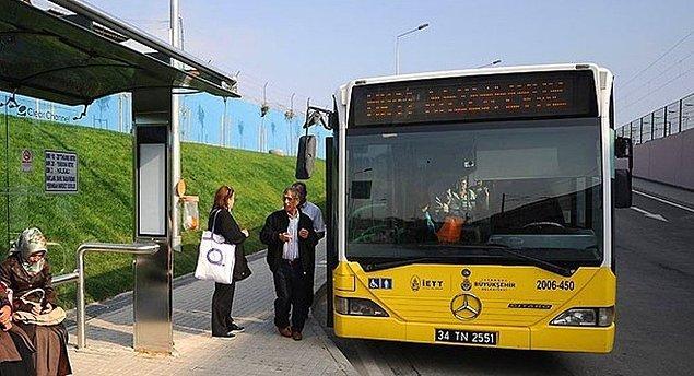 7. Otobüs duraklarına ''cep'' yapmak gerekir