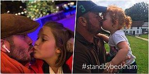Kızının Dudağından Öptüğü Fotoğrafı Paylaşarak Tartışma Yaratan David Beckham'a Ailelerden Destek Geldi!