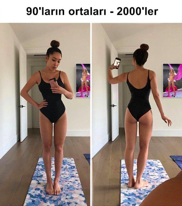 Büyük göğüsler ve uzun bacaklarla 90-2000'ler