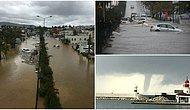 Hem Sel Hem Hortum Vurdu: Bodrum'daki Felaketten Objektiflere Yansıyan 15 Kare