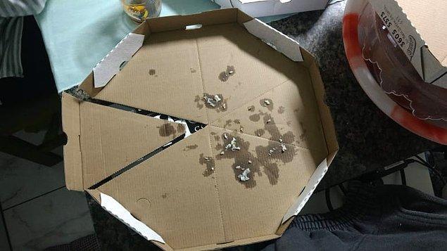 5. Ve yine pizza dilimleri için çok zekice bir tasarım.