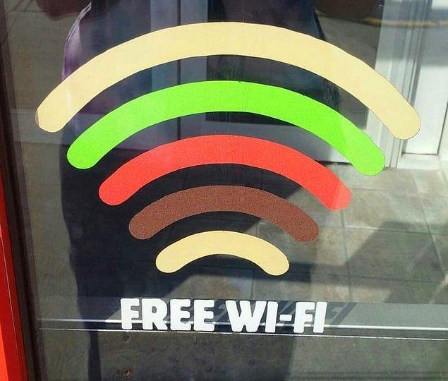 13. Hamburgercinin kapısındaki WiFi sembolünün hamburger şeklinde tasarlanması. :')