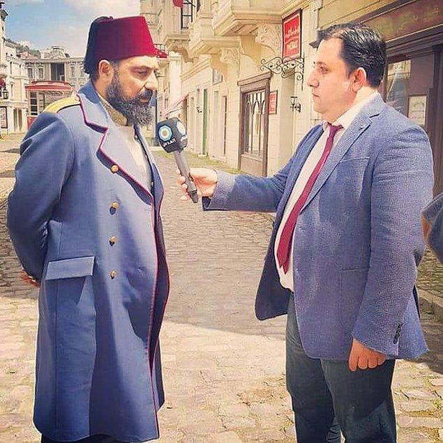 10. Röportaj veren Abdülhamit.
