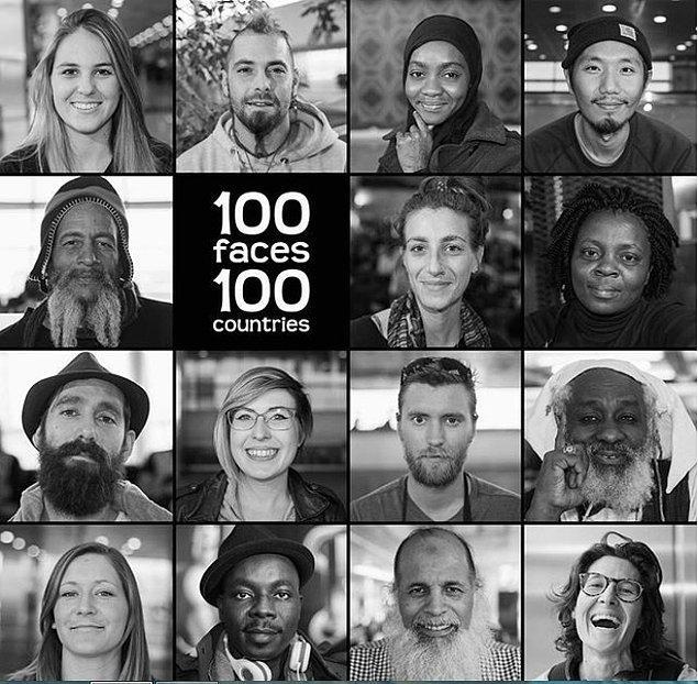 Şu ana kadar 79 farklı ülkeden 120 portre çeken Mustafa Çankaya'nın hedefi havalimanının kapanış tarihi olan 29 Aralık'a kadar projeyi bitirmek.