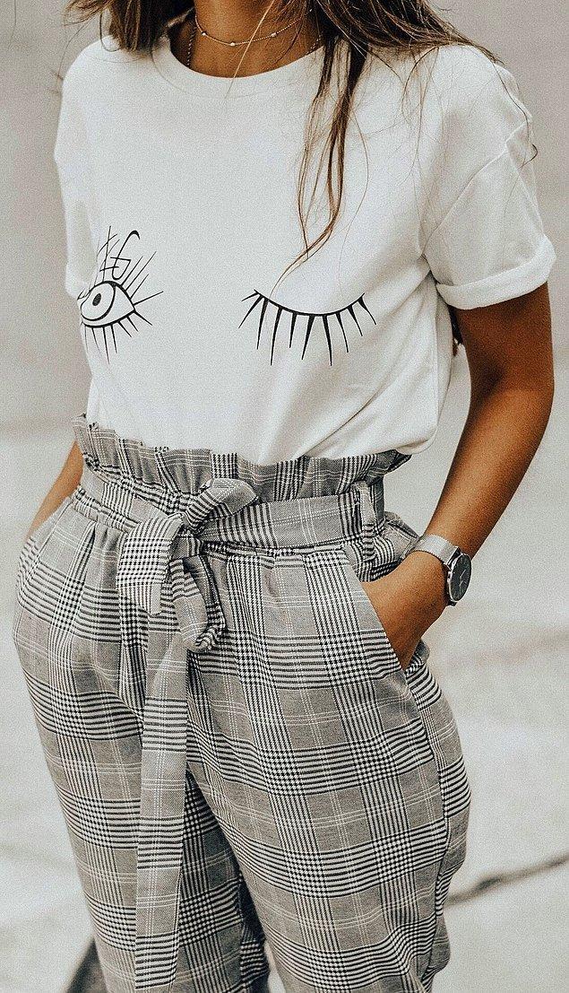 9. Beli büzgülü pantolon/etekler.