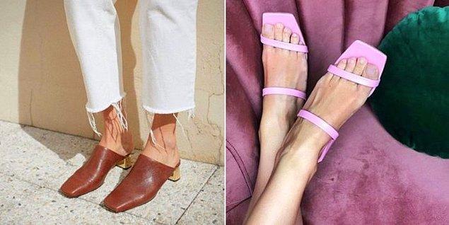 11. Küt burunlu ayakkabılar.