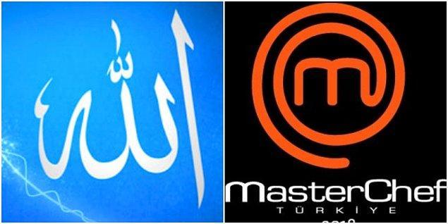 Arapça Allah yazısı ve MasterChef logosunu yan yana koyduğumuzda siz ne düşündünüz? Benziyor mu?