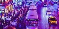 Sosyal Medyanın Gündemi: Ankara'da Medeni Bir Şekilde Otobüs Sırası Bekleyen İnsanlar