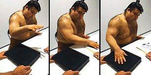 İmza Veren Sumo Güreşçisinin İzlemelere Doyamayacağınız Görüntüleri!