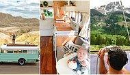 Hayal Ettiğimiz Hayatı Yaşıyorlar! Eski Bir Otobüsü Tekerlekli Hostele Çevirerek Manzaralarını Her Gün Değiştiren Gezgin Aile