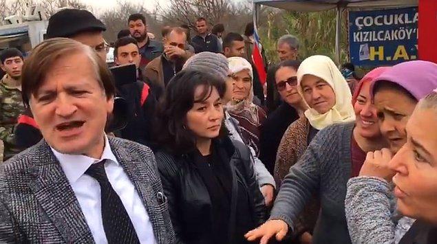 Vali yardımcısı ile vatandaş ardından geçen diyaloğun ardından bazı kişilerin de Arat'a 'Size deneyelim mi?' dediği videoda duyuldu.