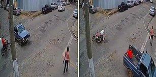 Talihsiz Kazanın Ardından Kendini Başka Bir Araçta Bulan Motosikletli
