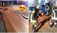 Rüya Gibi! Almanya'nın Werl Şehrinde Tanktan 1 Ton Çikolata Sokaklara Taştı