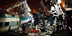 Ankara'da Yüksek Hızlı Tren, Kılavuz Lokomotif ile Çarpıştı: '9 Vatandaşımız Hayatını Kaybetti'