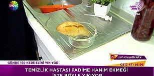 Temizlik Hastası  Kadın, Ekmeği Dahi Deterjanla Yıkayıp Yiyor!