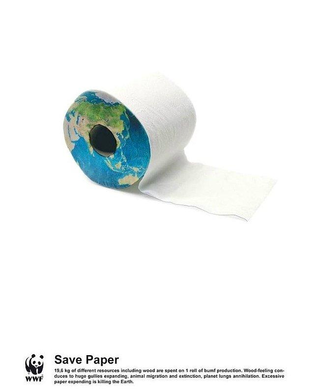 16. Tasarruf ettiğin daha çok kağıt, kaybettiğimiz daha az ağaç.