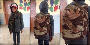 Yoksulluğun Fotoğrafını Çekebilir misin Abidin? Muş'ta Çantası Olmayan Çocuğunu Okula Battaniyeden Yaptığı Heybeyle Gönderen Anne