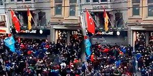 İstiklal Caddesi'ndeki GS Store Mağazasına Trabzonsporlu Taraftarlardan Saldırı